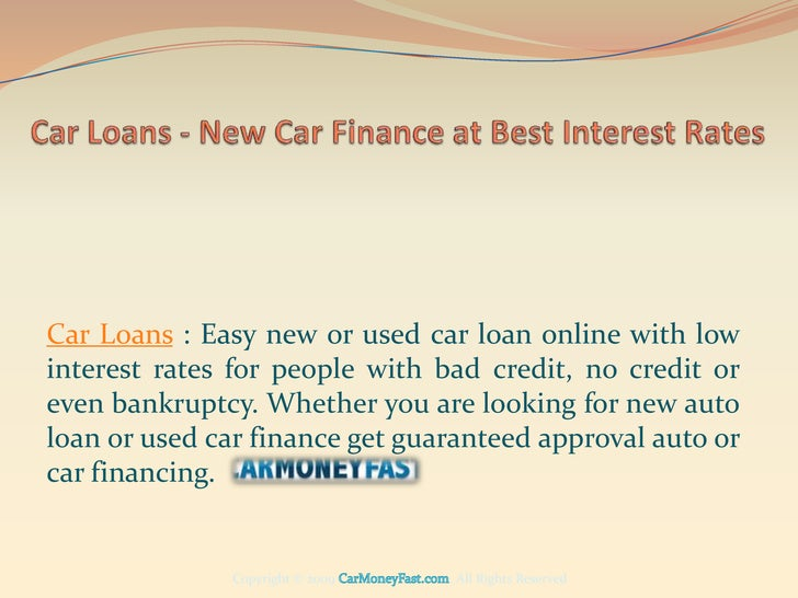 Used car loans interest rates comparison 14