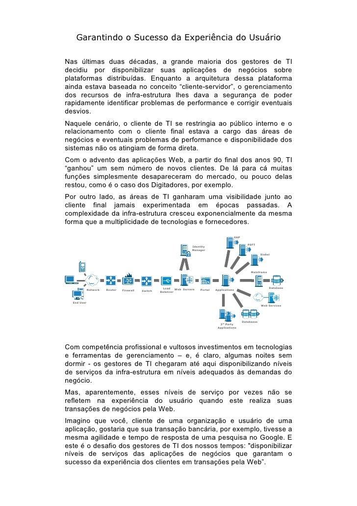 Garantindo o sucesso da experiência do usuário por Carlos bertozzi