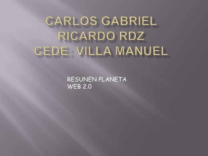 Carlos gabriel ricardo rdz