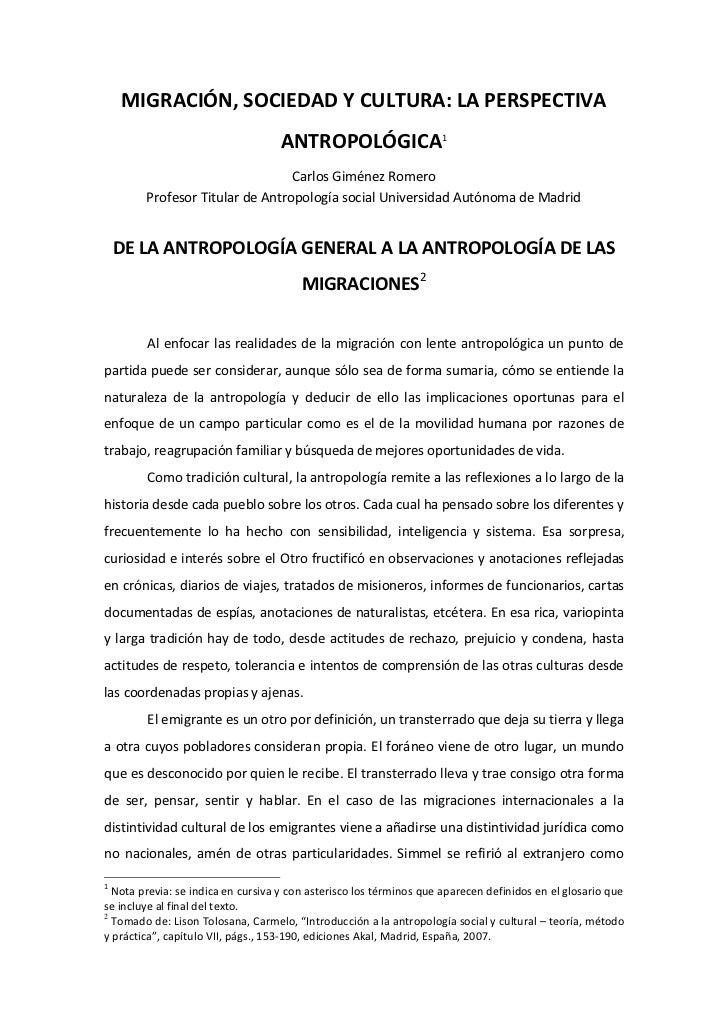 Carlos giménez romero migraciones y perespectiva antropolo