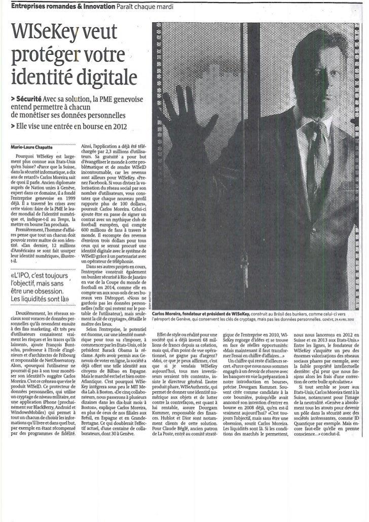 Carlos Article Le Temps May 2011