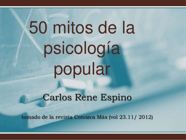 50 mitos de la psicología popular