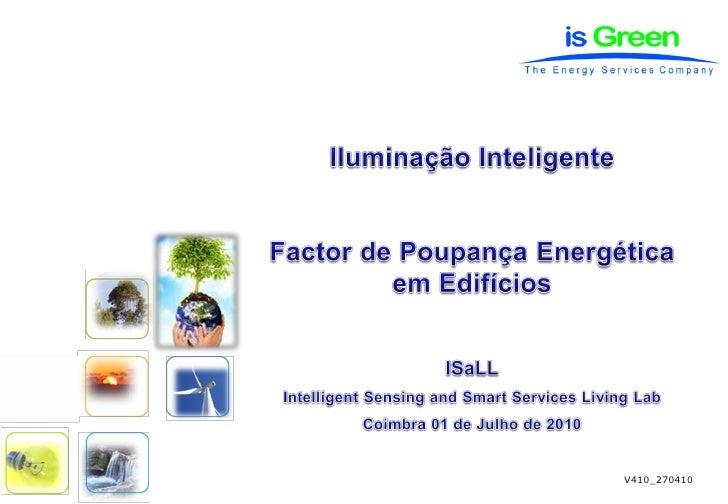 GreenLamp®     Intelligent Sensing and Smart Services Living Lab           Pág. 1                                         ...