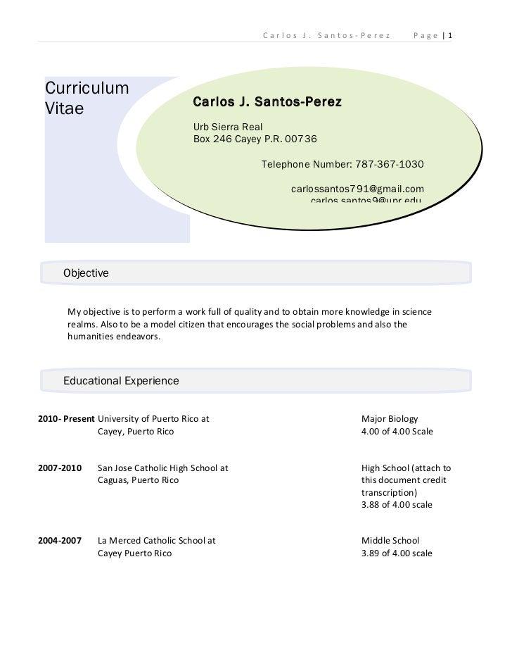 Carlos santos curriculum vitae