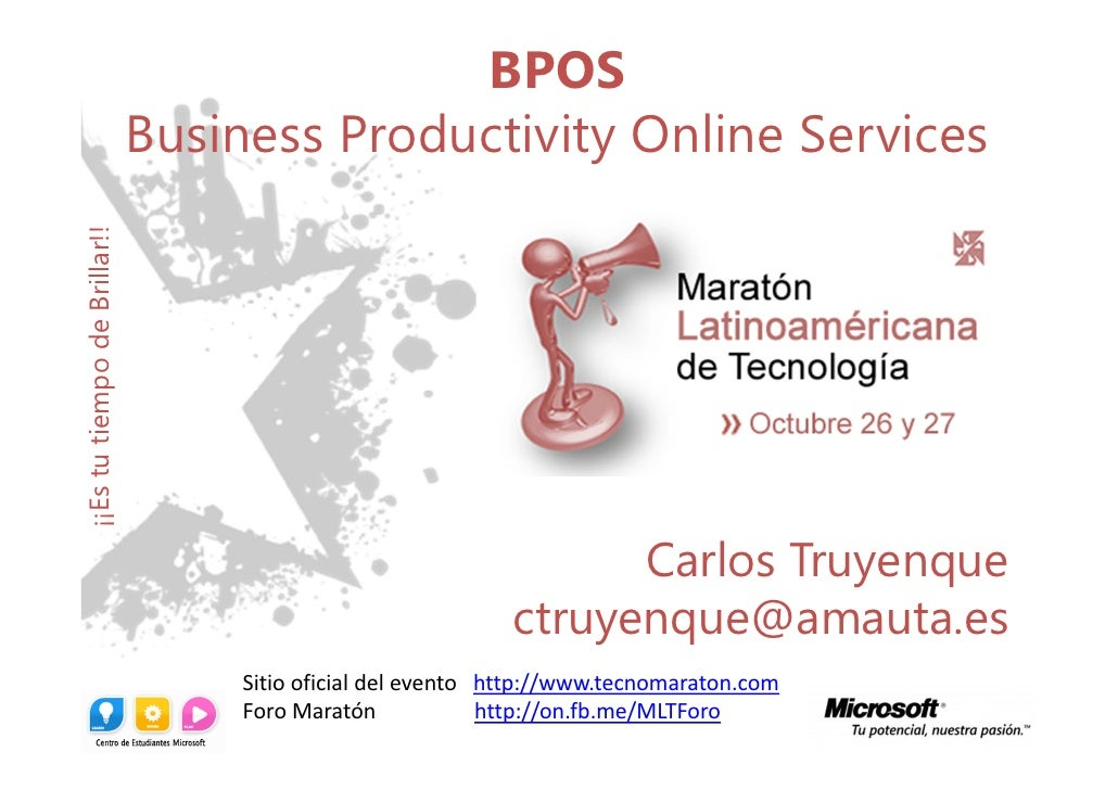 BPOS + Office 365 Maratón Latinoaméricana de Tecnología
