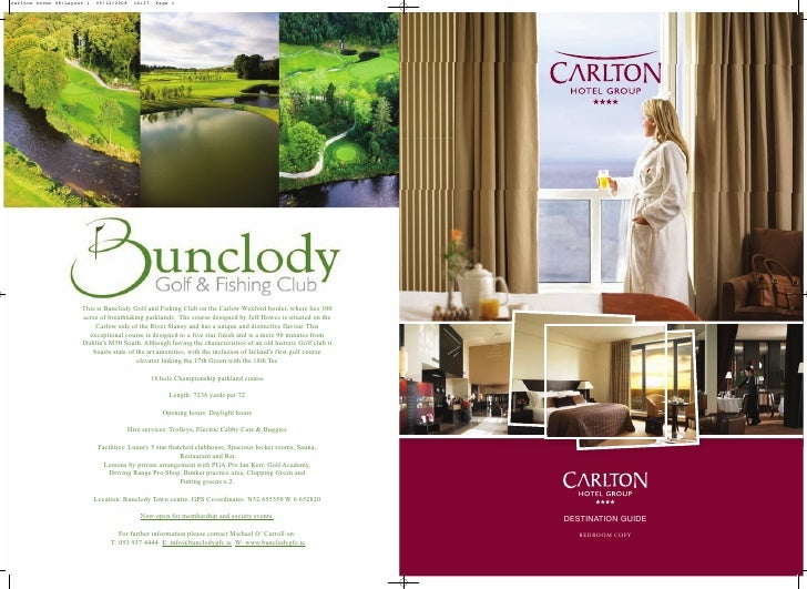 Carlton Hotel Group Destination Guide