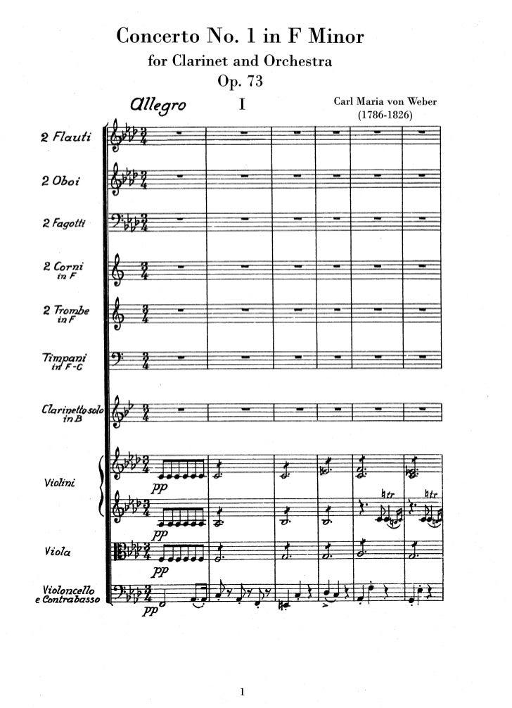 Car maria von weber   clarinet concerto no.1 op.73 (orch)