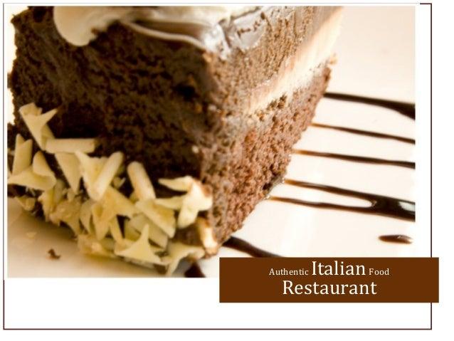 Authentic ItalianFoodRestaurant