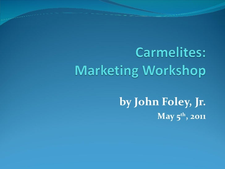 Carmelites Online Marketing Workshop