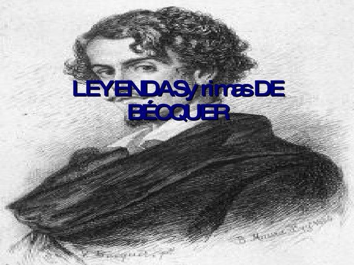 LEYENDASy rimas DE BÉCQUER
