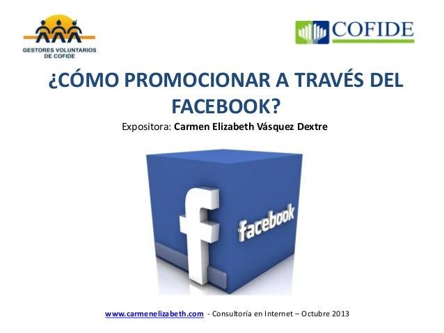 ¿Cómo promocionar a través de Facebook?