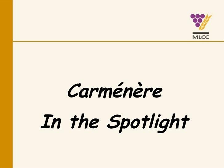 Carménère In the Spotlight