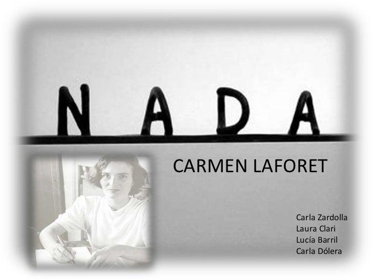 CARMEN LAFORET<br />Carla Zardolla<br />Laura Clari<br />Lucía Barril<br />Carla Dólera<br />