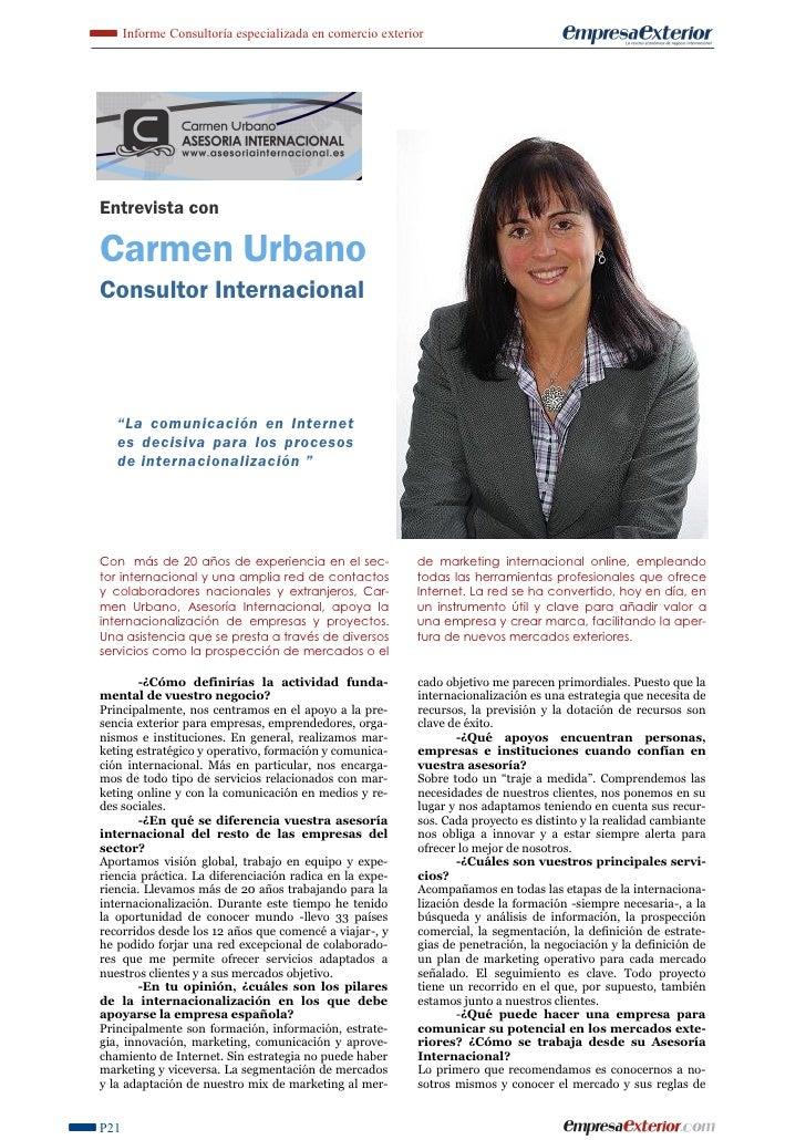Entrevista Empresa Exterior sept. 2011.