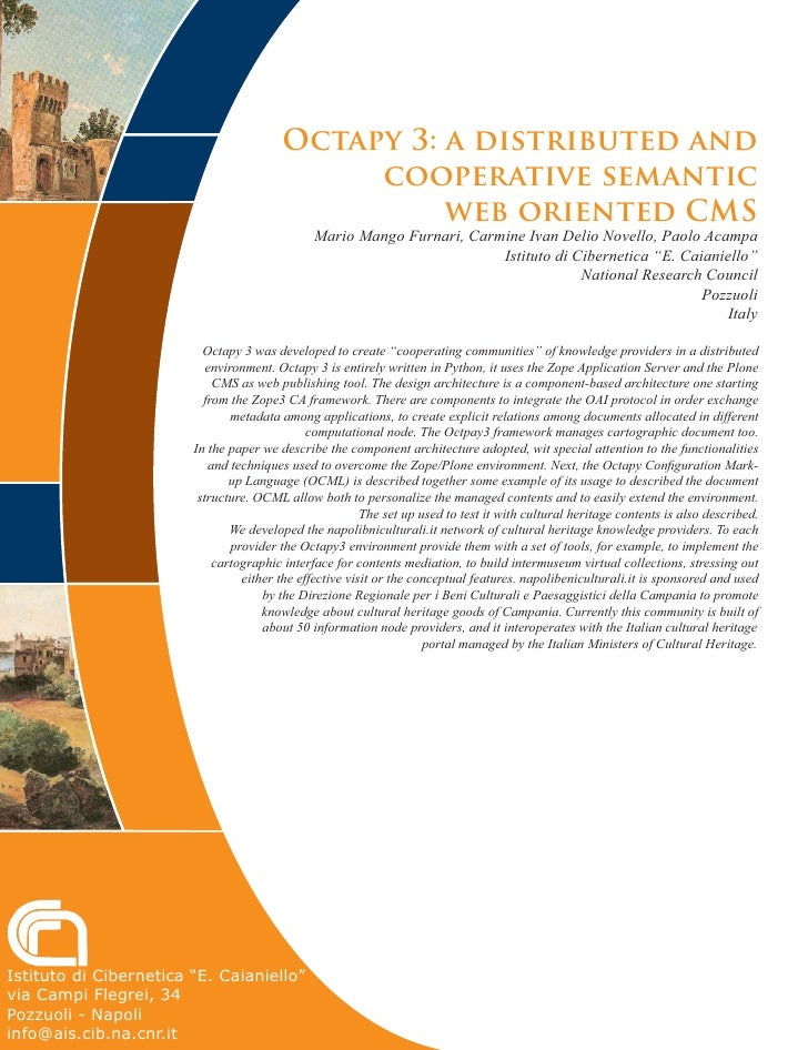 Octapy 3: a distributed and                                               cooperative semantic                            ...