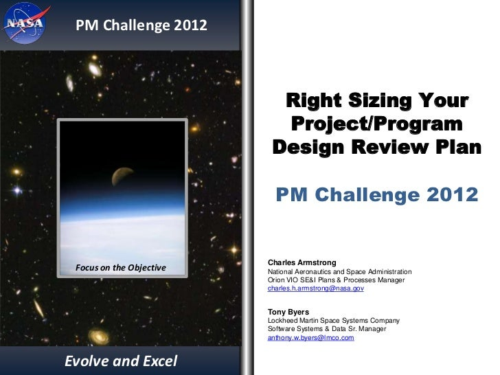 PM Challenge 2012                            Right Sizing Your                            Project/Program                 ...