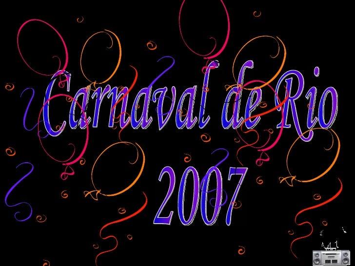 Carnaval de Rio 2007