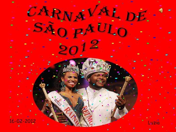 Carnaval de são paulo 2012