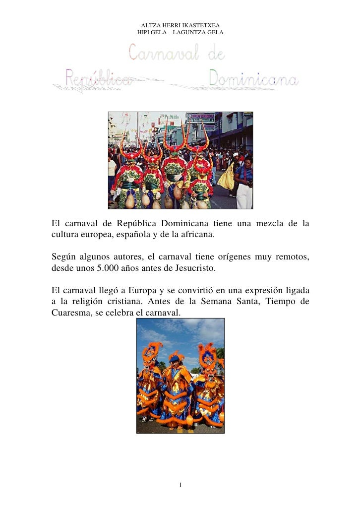 Carnaval en republica dominicana