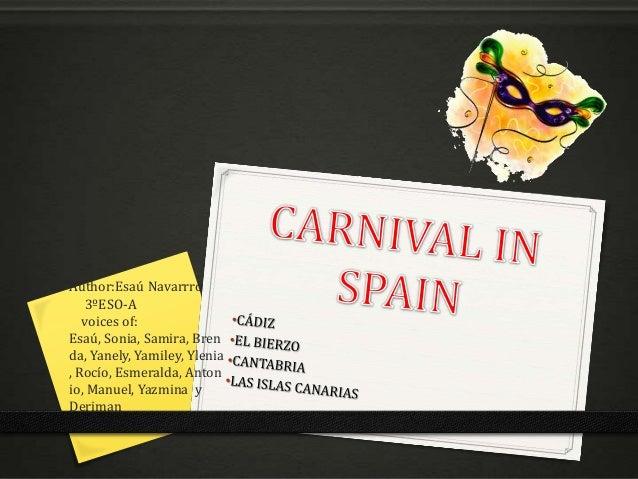 Carnaval in spain 3ºeso