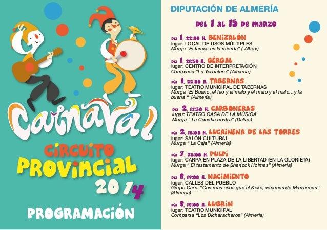 Carnaval provincial 2014