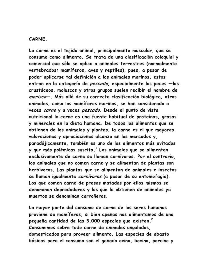 DATOS GENERALES DE CARNE