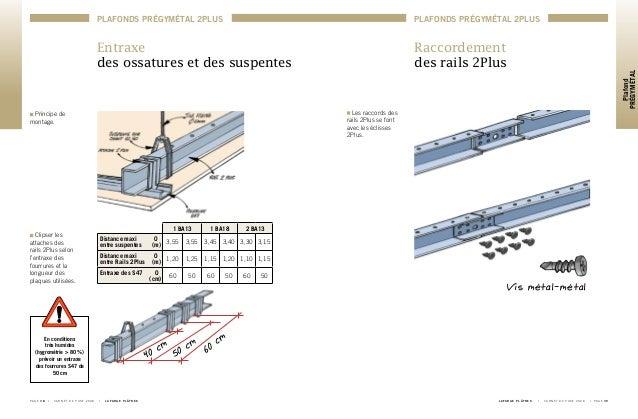 Carnet de pose 2008 plafond pregymetal for Pose ba13 sur rail plafond
