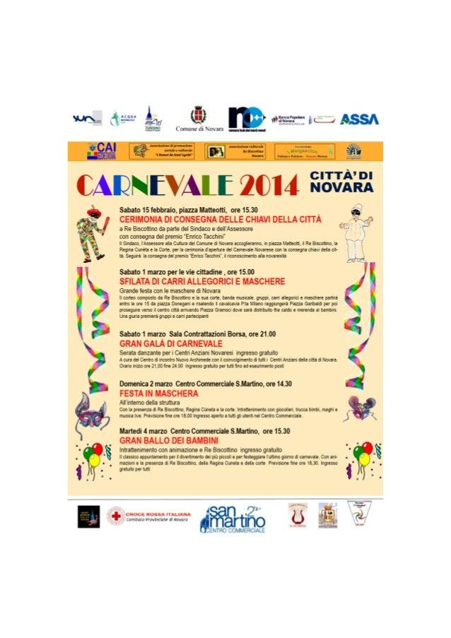 Programma Carnevale novara 2014