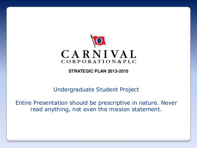 carnival corporation case study Cruise line industry: carnival case study current situation afinancial performance – the company had a 26% market share of the cruise line industry its gross.