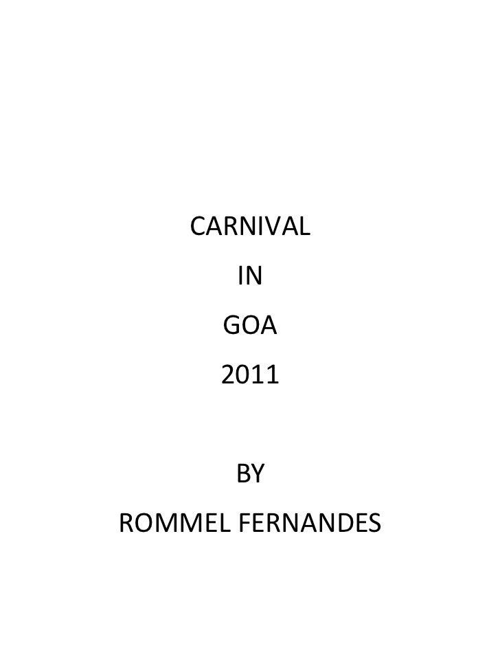 Carnival in goa 2011