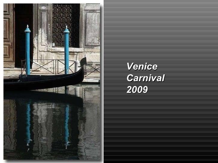 Carnival  Venecia 2009