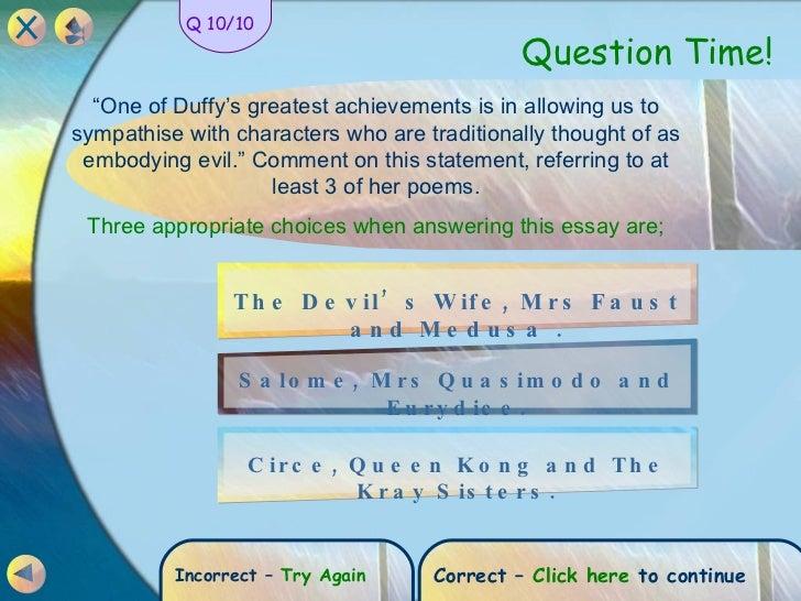 mrs quasimodo carol ann duffy essay Created date: 4/27/2012 11:18:59 am.