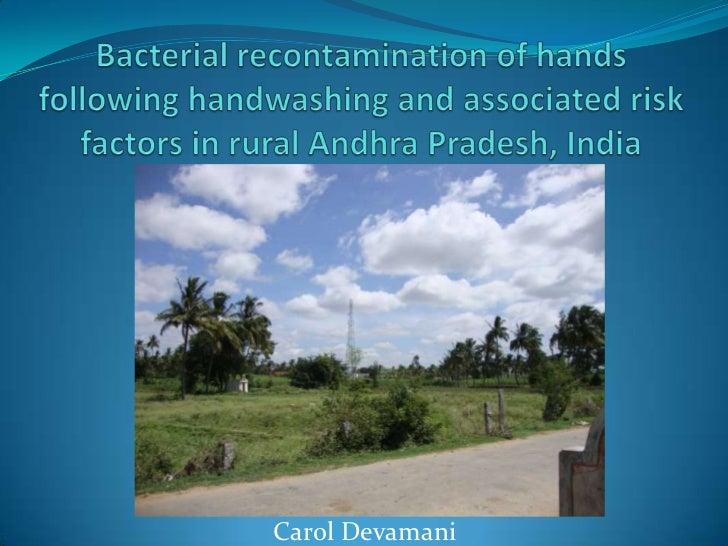 Bacterial recontamination of hands following handwashing in India - Carol Devamani, LSHTM alumna