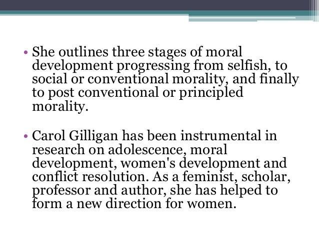 carol gilligan on moral development essay