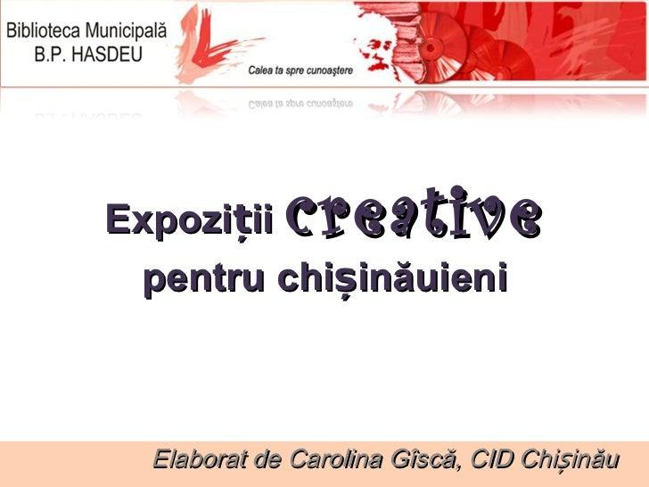 Expozitii creative
