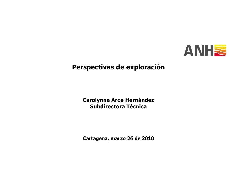 Carolina arce (anh)  perspectivas de exploración