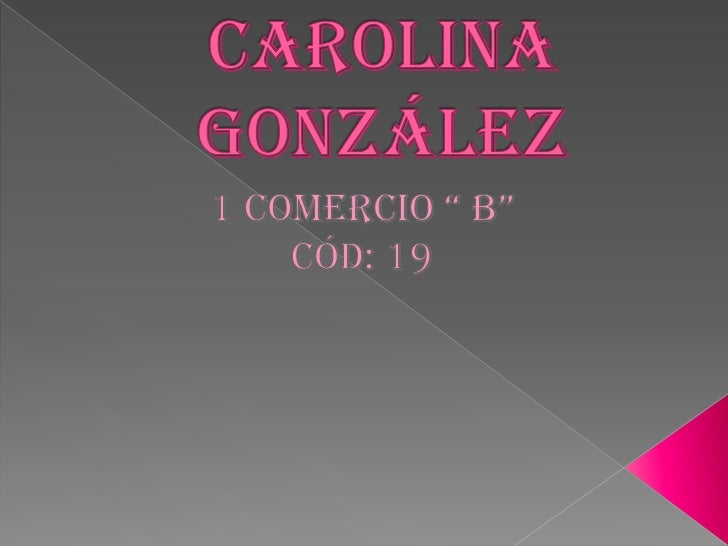 Carolina gonzales