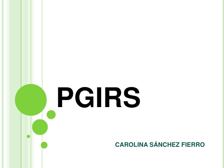 PGIRS<br />CAROLINA SÁNCHEZ FIERRO<br />