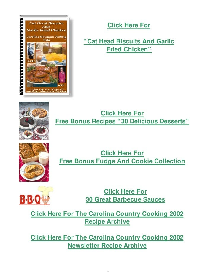 Carolinas country cooking