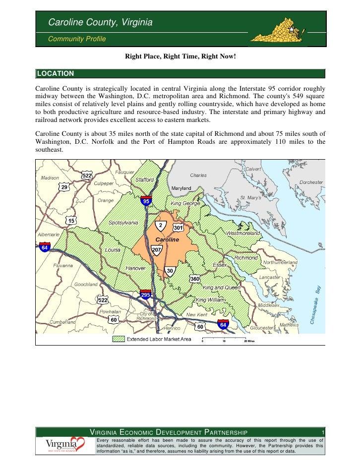 Information about Caroline Virginia