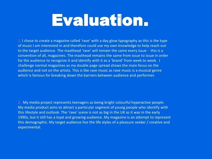 Caroline Unwin Evaluation Media