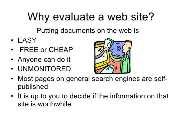 Carol jones evaluating web sites