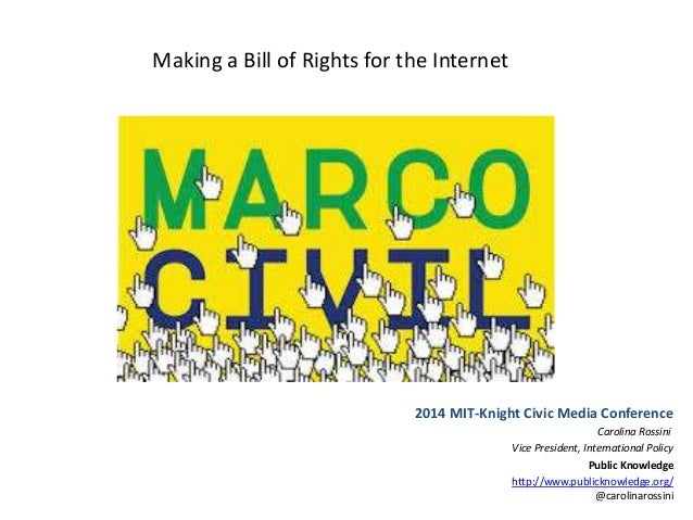 Participation for  Open Internet - The Case of Marco Civil