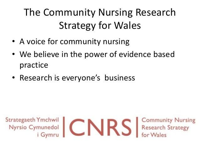 Community nursing research strategy