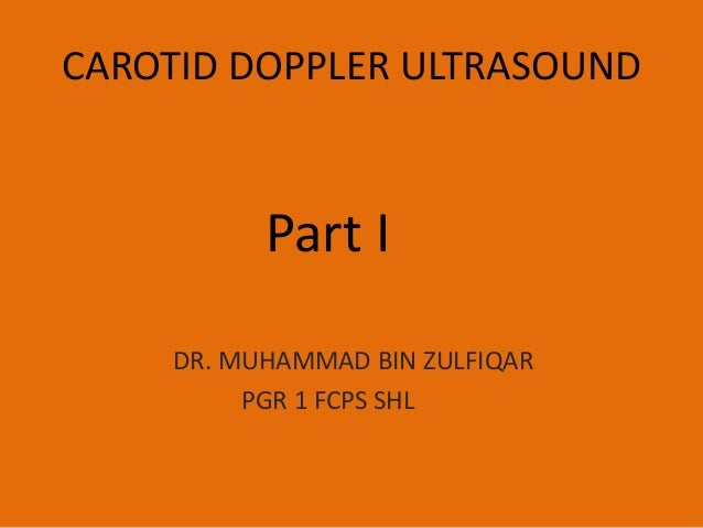 Carotid doppler ultrasound