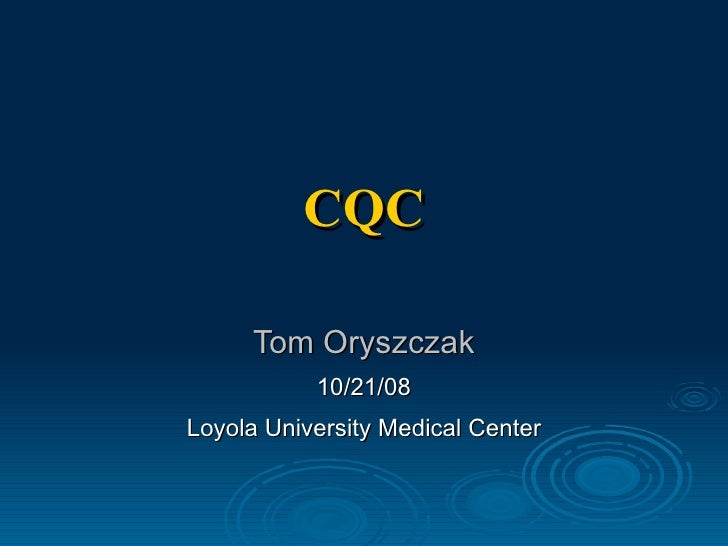 Carotid stenosis (cqc)