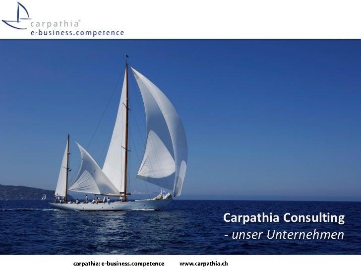 Carpathia Consulting- unser Unternehmen