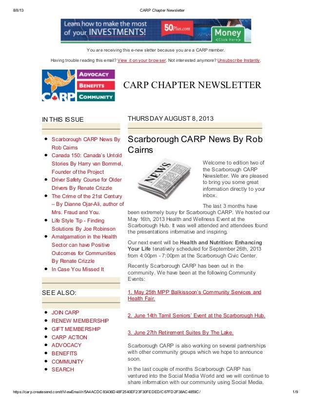 8/8/13 CARP Chapter Newsletter https://carp.createsend.com/t/ViewEmail/r/5A4ACDC83436D48F2540EF23F30FEDED/C67FD2F38AC4859C...