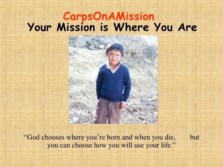 Carpenter Mission Statement