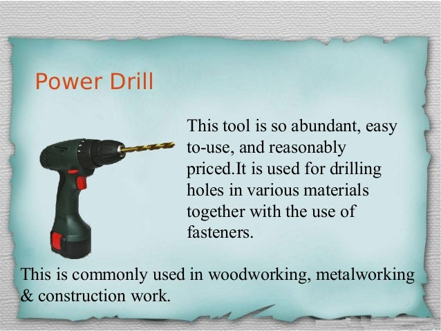 List Of Carpentry Tools With Name